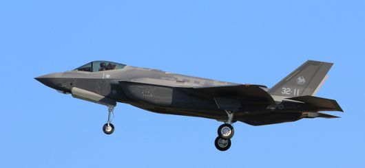 Eleventh F35A Lightning II serialled 32-11 during its maiden flight